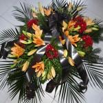 Lilie a chryzantémy