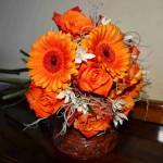 Svatební kytice-oranžová 700 Kč