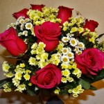 Růže a chryzantémy