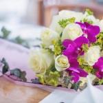 Svatební kytice-fuchsiová 1000Kč
