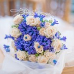Svatební kytice-modrá 900Kč