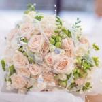 Svatební kytice-růžová 1000Kč