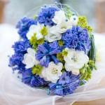 Svatební kytice-modrá 650 Kč