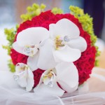 Svatební kytice-červená 1000Kč