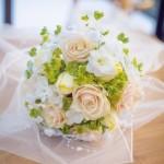 Svatební kytice-růžová 800 Kč