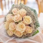 Svatební kytice-růžová 700 Kč