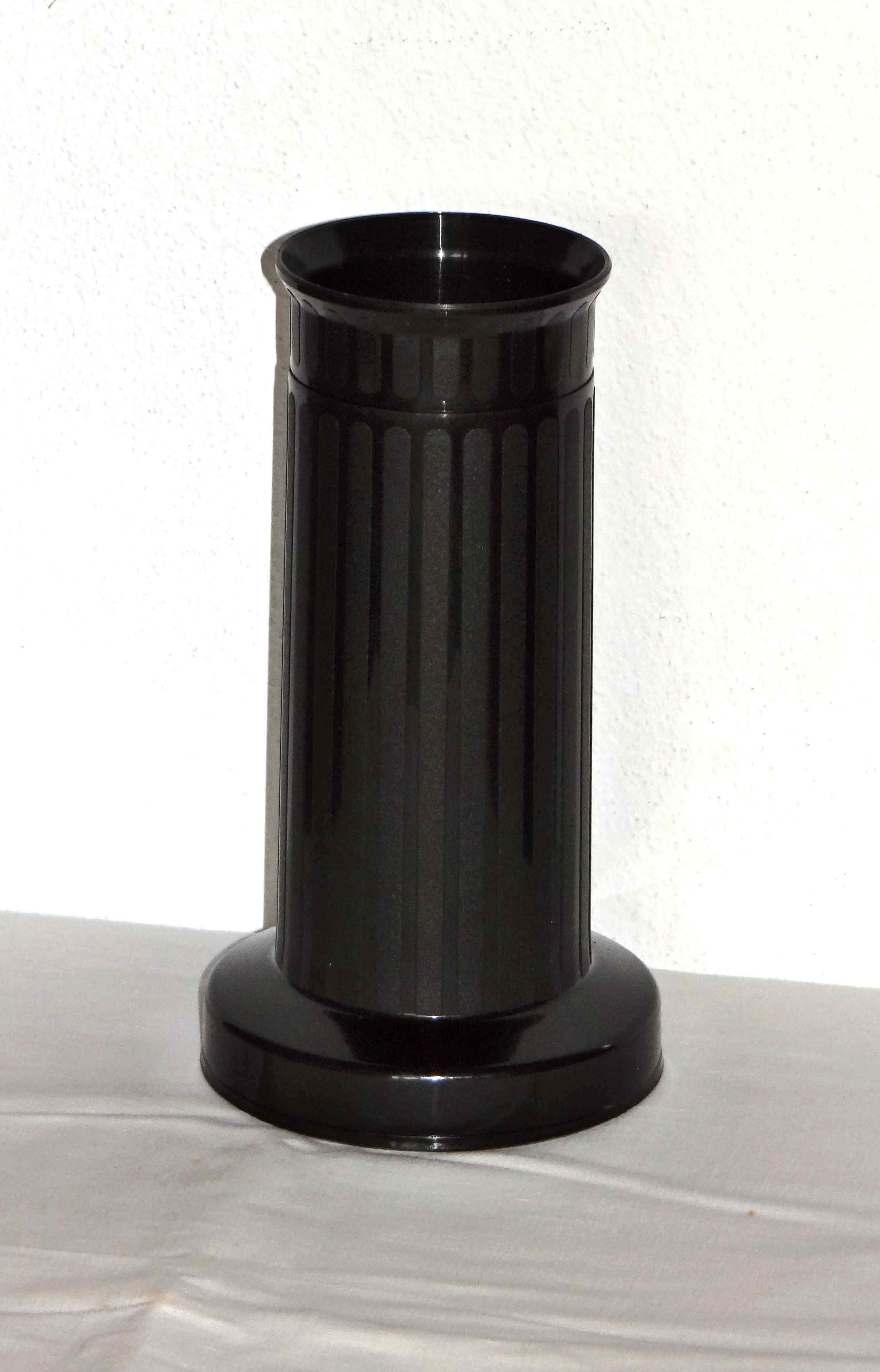 Zátěžová váza černá, úzká
